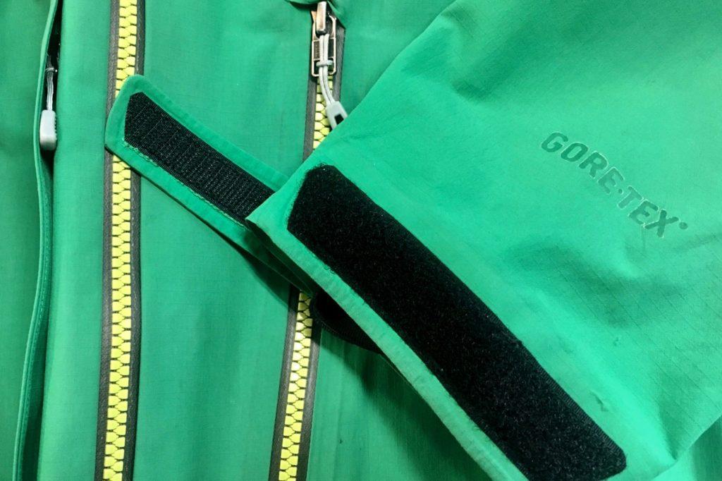 new velcro on gortex jacket